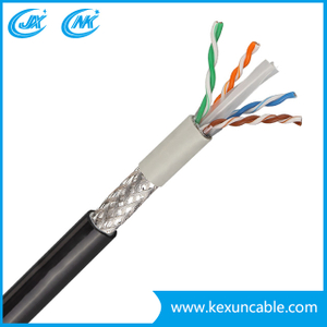China Factory 305m Pass Test Indoor PVC Jacket 4 Pair UTP/FTP CAT6 LAN Cable
