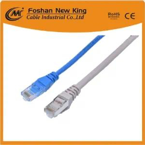 0.45mm 0.5mm Bc CCA CAT6 computer Entherenet LAN Cable Newwork Cable with RJ45 Connector