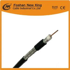 1.02mm Copper or CCS Conductor RG6 CCTV CATV Cable with Jell (Flooding Compound)
