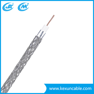 RG6 Coaxial Cable New PVC with Steel Messenger for CCTV CATV Satellite System (RG6+M)