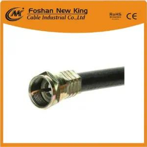 China Manufacture RG6 Coaxial Cable with F Connector for CCTV CATV Used