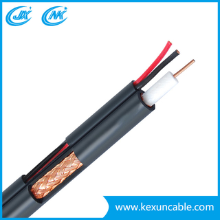 Factory Rg59 Coaxial Cable Security Cable with F Compression Connector for Surveillance System