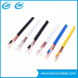 China Factory Rg59 with F-Connector Coaxial Cable for Surveillance System