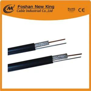 Manufacturer RG6 Coaxial Cable with Messenger for CATV CCTV Surveillance VCR