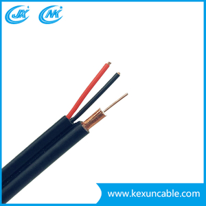 High Braiding TV Cable RG6 with 2 Power Cable (RG6 + 2DC) for CCTV/CATV Application