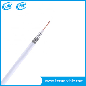 Telecommunication RG6 Coaxial Cable with Steel Messenger for Matv/CATV /Satellite