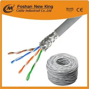 High Grade Copper or CCA FTP 4X2X24AWG CCA/Bc Cat 6 Network Cable LAN Cable