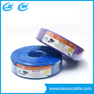 Hot Selling Rg59 Coaxial Cable with 2DC (power cable) Wire for Camera Cable Security Cable