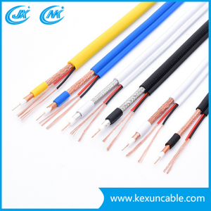 China Manufacturer 75 Ohm Rg59 Coaxial Cable for Securiy Surveillance with 2 Power Cable Ce/CPR/ISO/RoHS (Rg59+2DC)