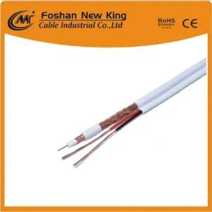 China Manufacturer 75 Ohm Rg59 Coaxial Cable CCTV Cable Security Cable with 2 Power Cable Ce/CPR/ISO/RoHS Verification