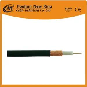 CCS or Bc CCTV CATV RG6 Coaxial Cable with PVC Jacket with Jelly (Flooding Compound)