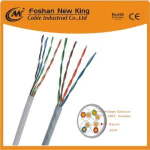 Waterproof CAT6 Network Cable LAN Cable Outdoor Cable 23AWG with 0.56mm Solid Copper